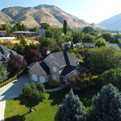 homes aerial photography