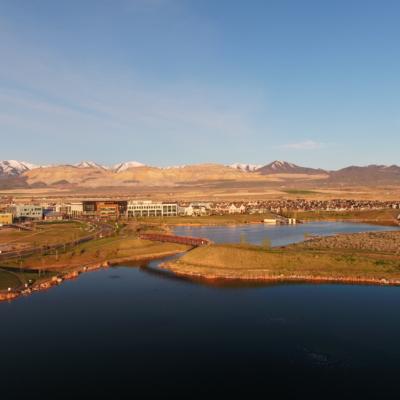 Utah cityscape aerial imaging