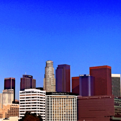LA city done with drone photography