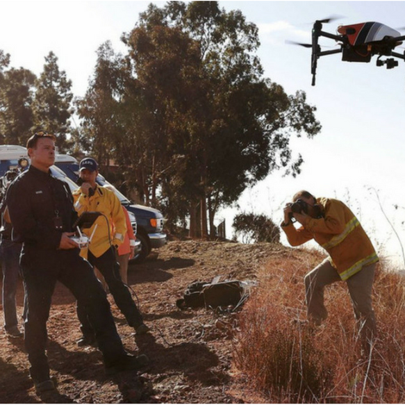 Emergency Response Drone Photography