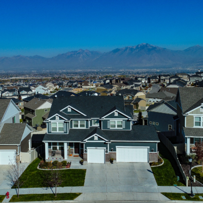 aerial view of salt lake valley